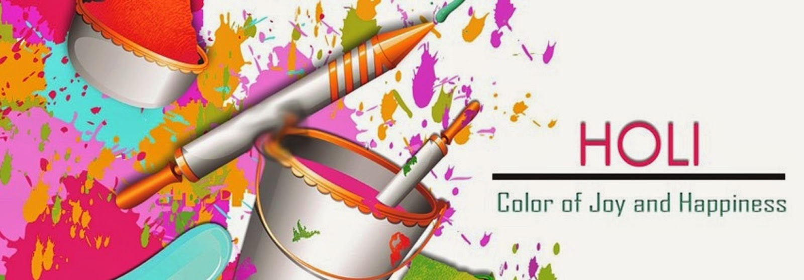 Happy holi 2016 facebook cover wallpaper image