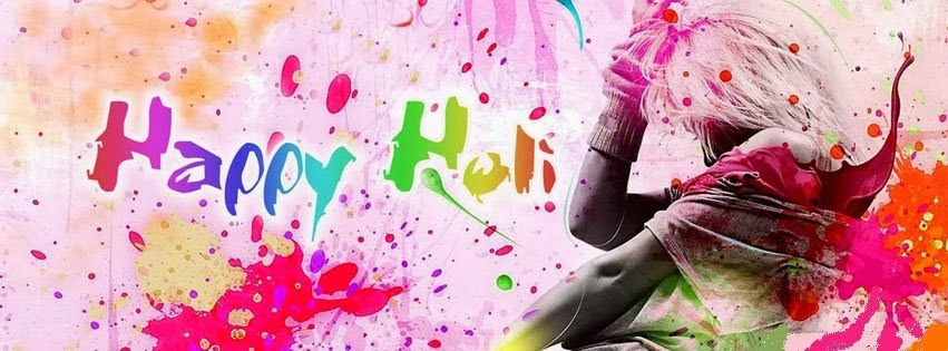 Happy Holi FB Facebook Covers, Images for Free Download