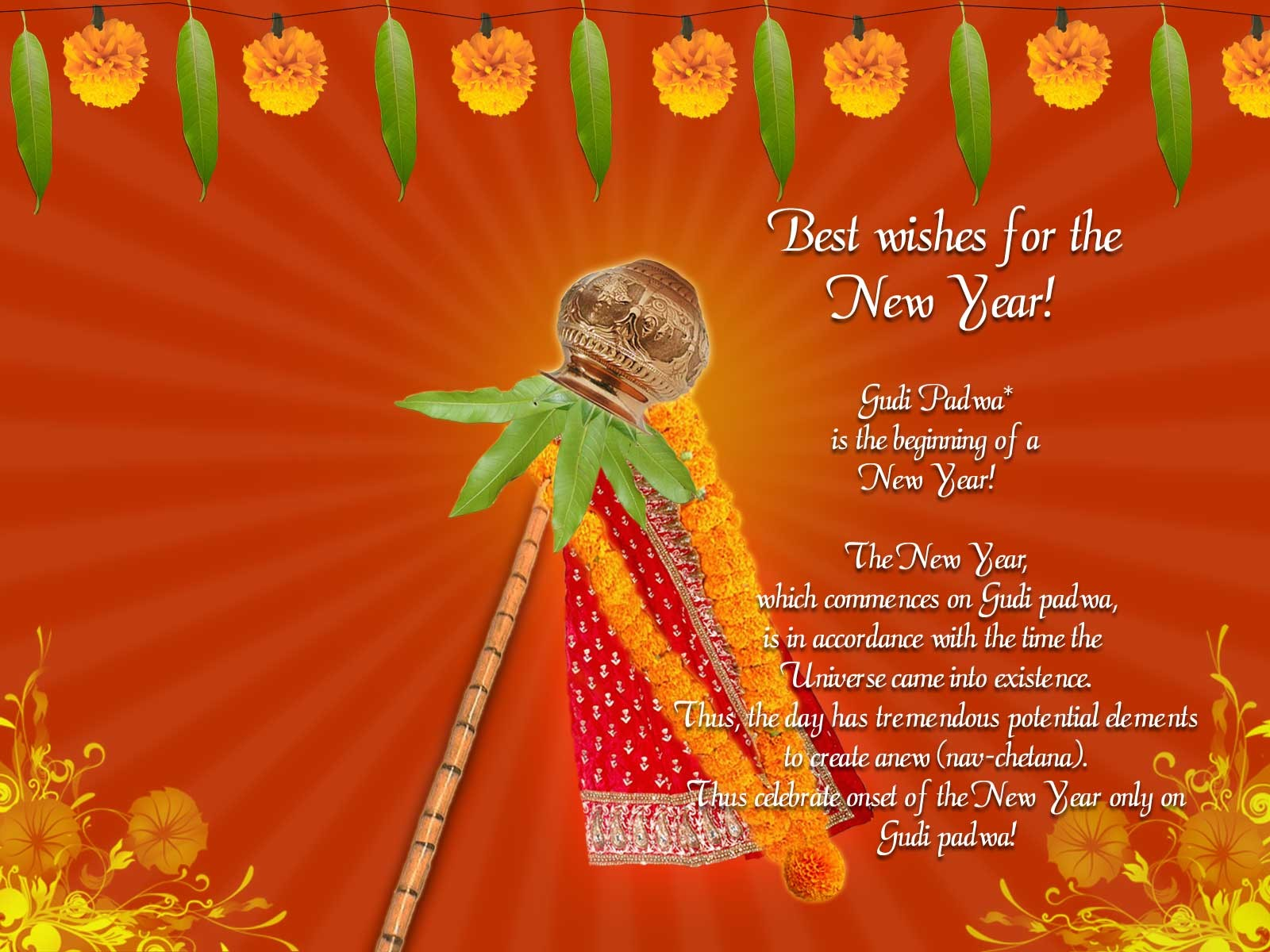 Happy Gudi Padwa Images 2018 With Wishes Message In English