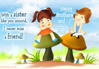 Happy friendship day greetings cards & Pictures for brothers & sisters