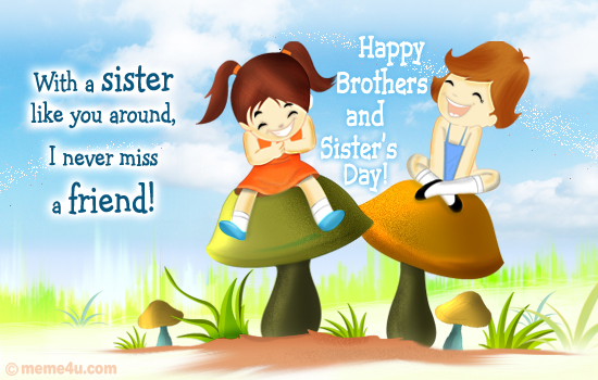 Happy friendship day greetings cards & Pictures for brothers & sisters (2)
