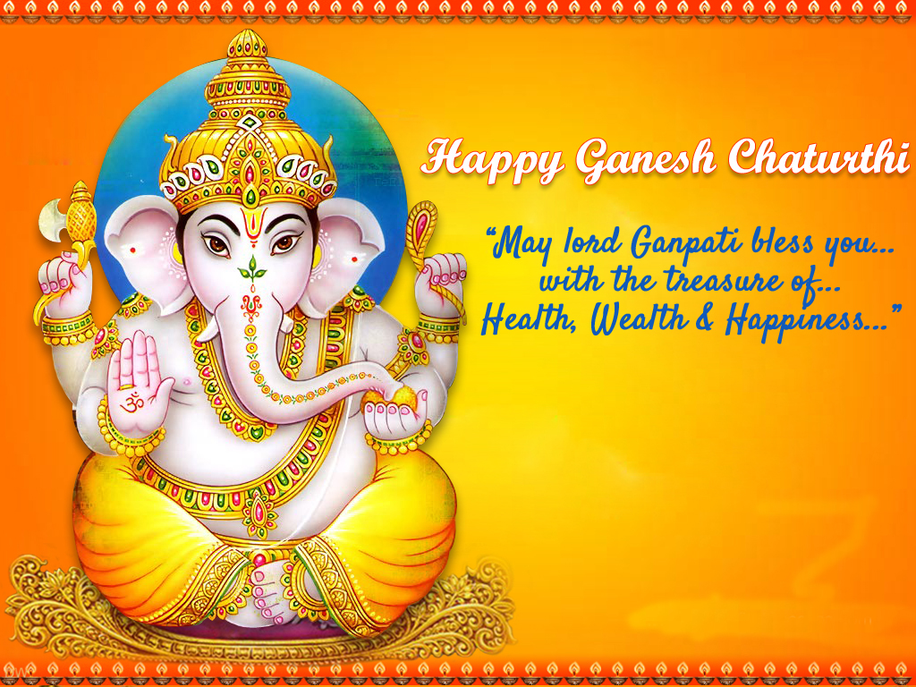 Download Happy Ganesh Chatruthi Wishes Greetings Cards
