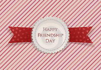 latest happy friendship day 2016 badge & ribbon