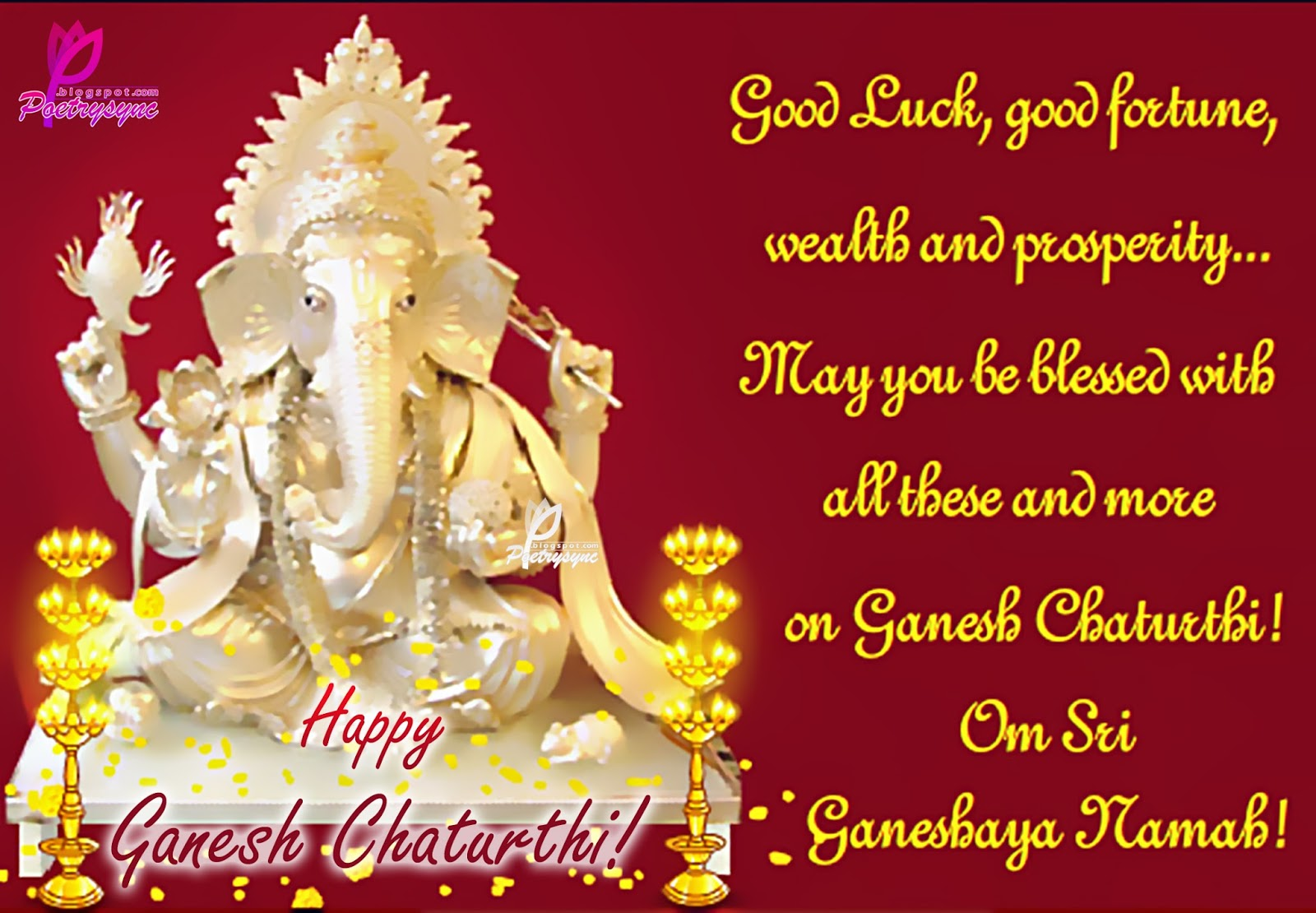 Vinayaka ganesh chaturthi advance wishes greeting card image vinayaka ganesh chaturthi greeting cards ecards images pictures photos in english m4hsunfo