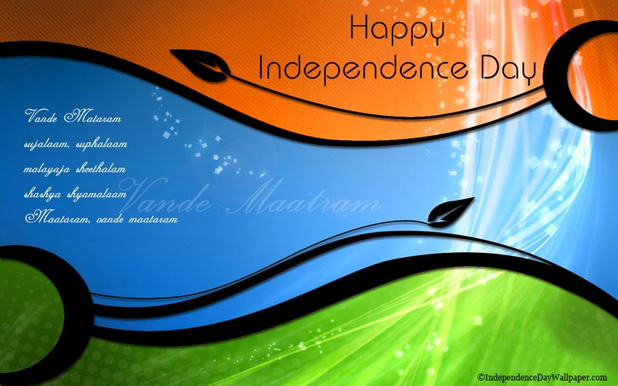 Independence day greetings cards in english
