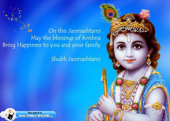 Happy Krishna Janmashtami Greetings Cards Images Photos Pic in English