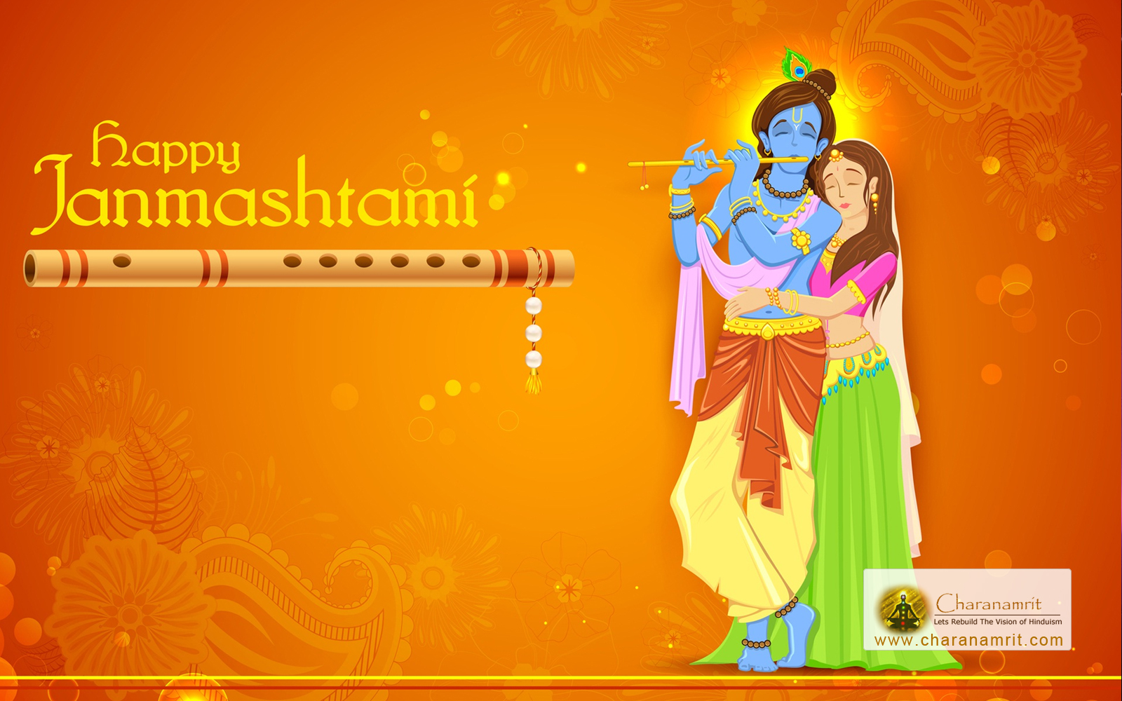 Happy Krishna Janmashtami HD Cover Picture for Facebook & Google Plus