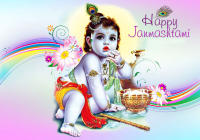 Happy Krishna Jayanti/ Gokul Ashtami WhatsApp & Facebook Status & Messages Wishes
