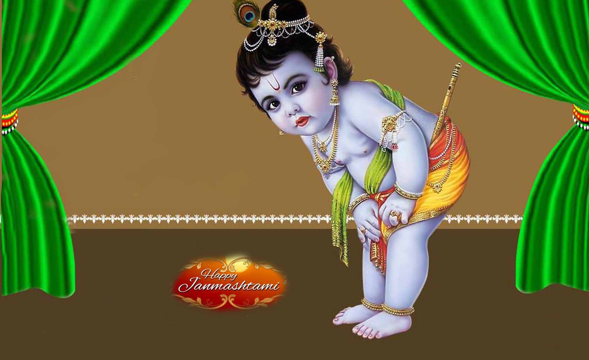 Happy Janmashtami 2016 HD Cover Pictures for Facebook