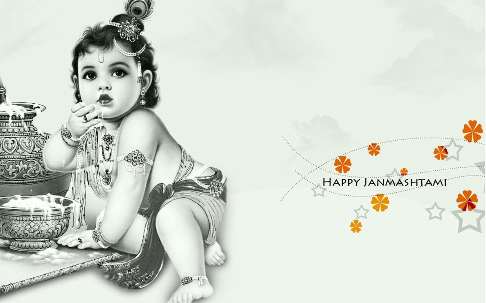 Happy Krishna Janmashtami 2016 HD Cover Pictures For Google+