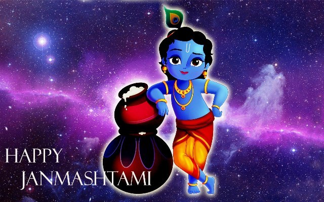 Happy Krishna Janmashtami HD Cover Picture for Facebook & Google Plus (6)