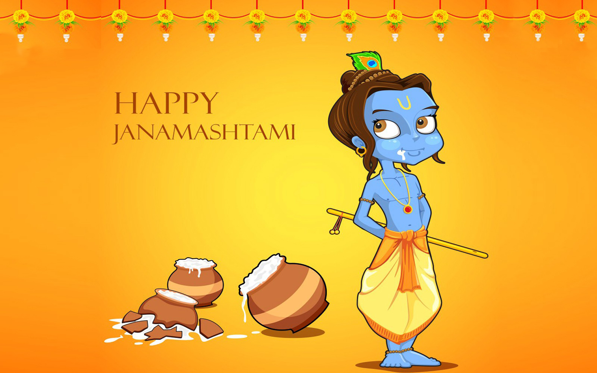 Happy Krishna Janmashtami Quotes & Poems Wishes in Marathi
