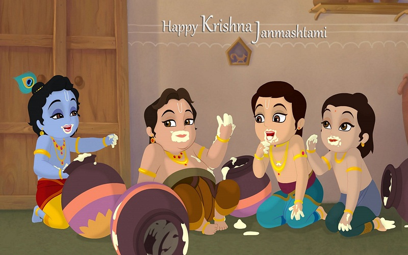 Birth Of Krishna- Shree Krishna in Hindi - Animated Cartoon Stories