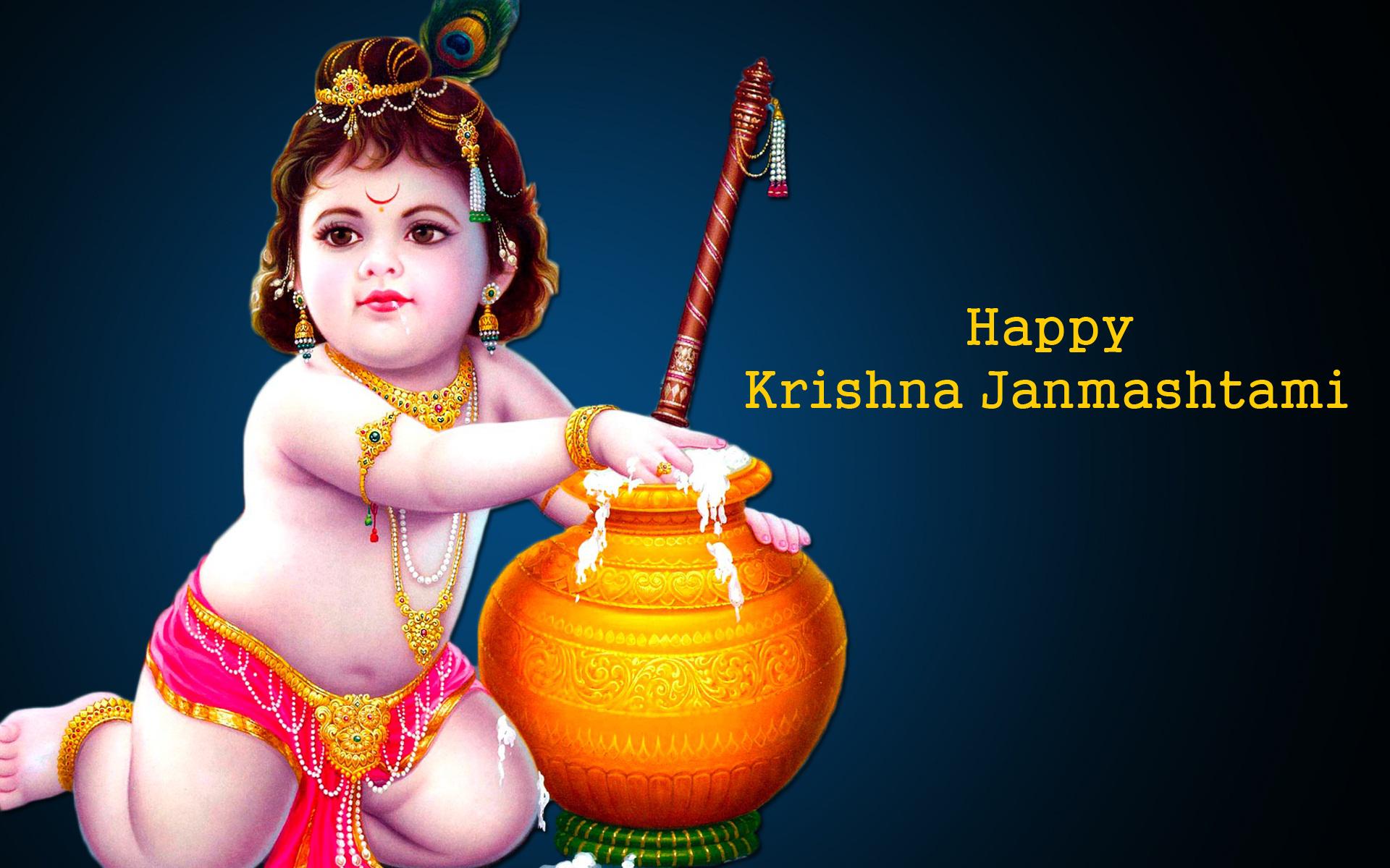 Download Happy Krishna Janmashtami HD Wallpaper