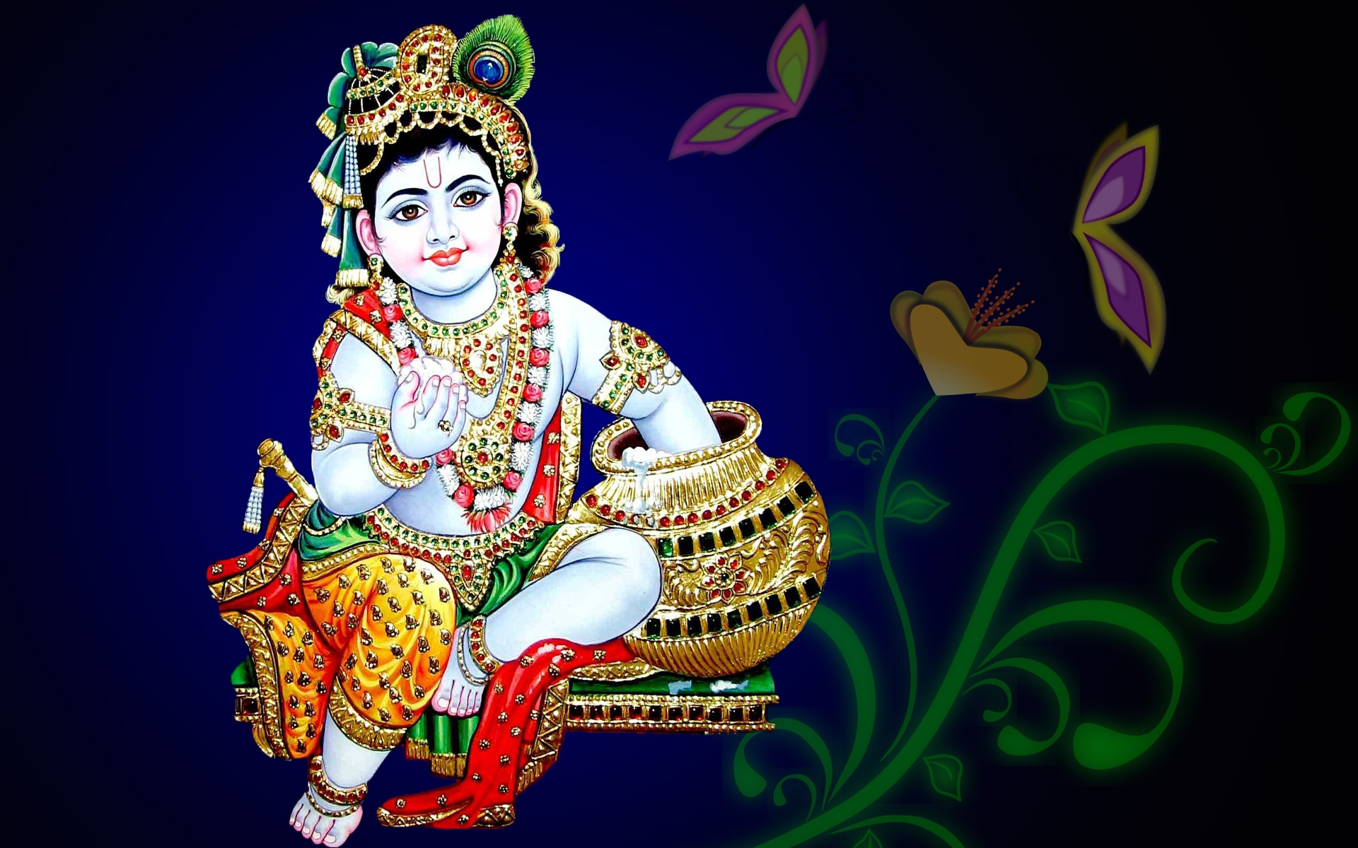 Hd wallpaper krishna - Download Happy Krishna Janmashtami Hd Wallpaper