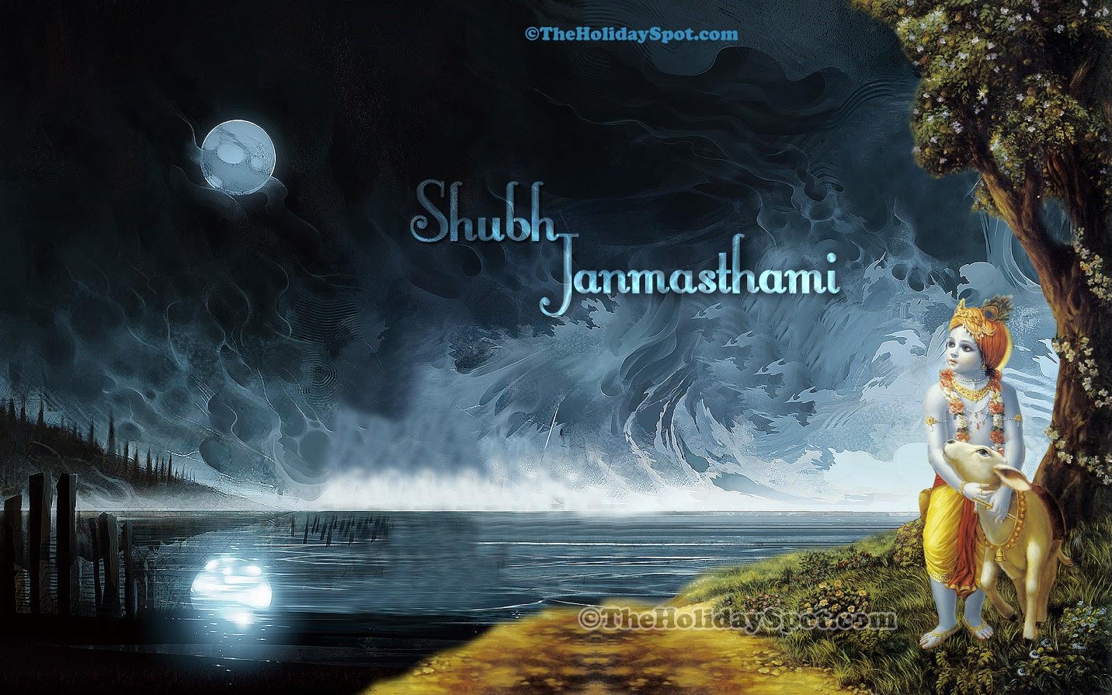 Shubh Janmashtami HD Wallpaper