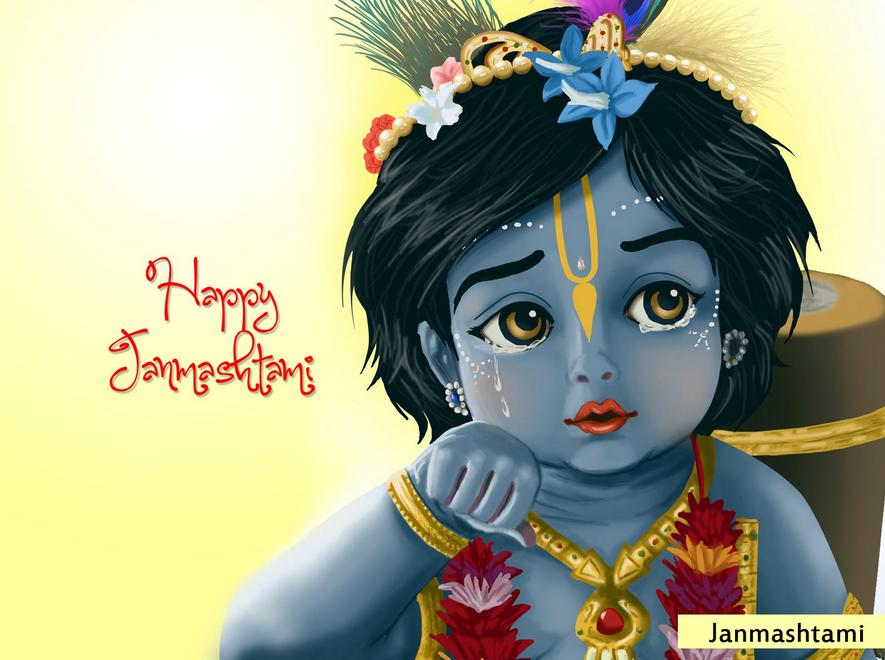Happy Krishna Janmashtami WhatsApp Dp & Facebook Profile Picture (1)