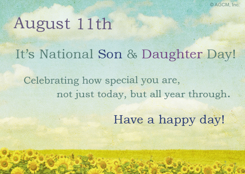 national son's & daughter's day 2016 greetings cards