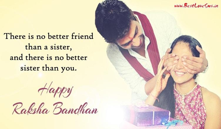 Happy Raksha Bandhan SMS in English for WhatsApp