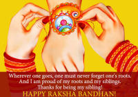 Happy Raksha Bandhan SMS in English for facebook
