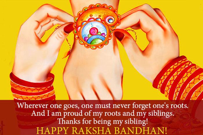 Happy Raksha Bandhan SMS in English for facebook