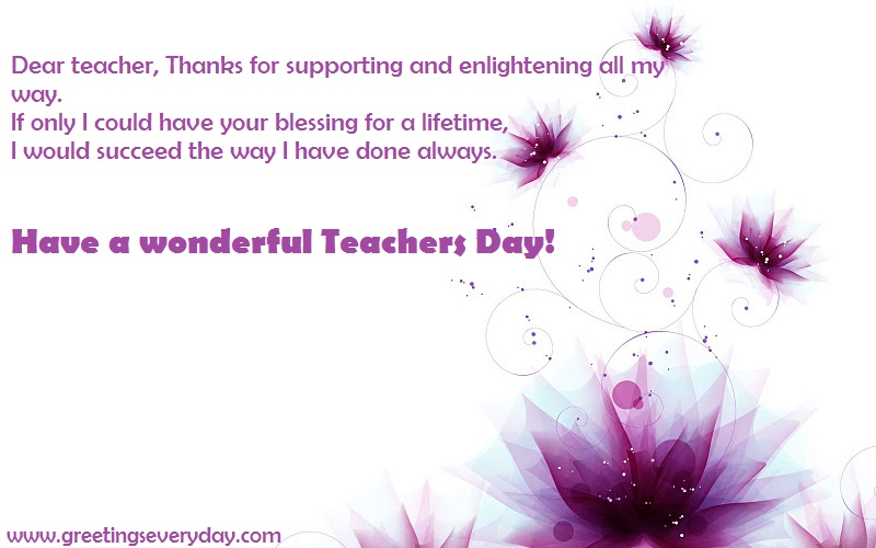 Happy Teacher's Day Wishes, Sayings from Students