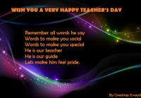 Happy Teacher's Day WhatsApp Status Message SMS Quotes in English