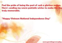 Happy Vietnam National Independence Day Messages SMS & Short Text