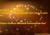 Happy Vietnam National Independence Day Greetings Card With Best Wishes