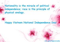 Happy Vietnam National Independence Day Sayings Quotes Wishes