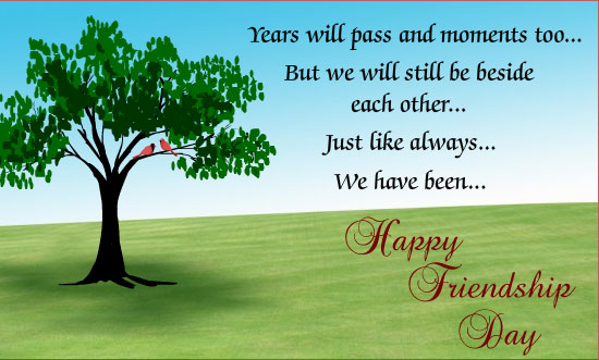 friendship day image with message