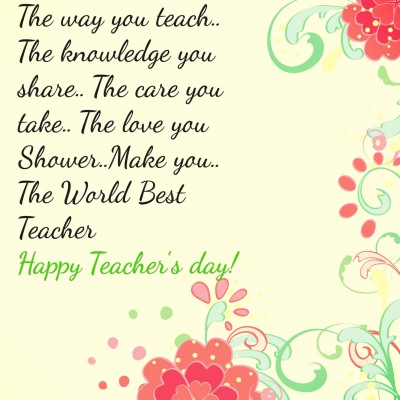 Download Happy Teacher's Day 2016 Photos With best Wishes for Facebook & Instagram