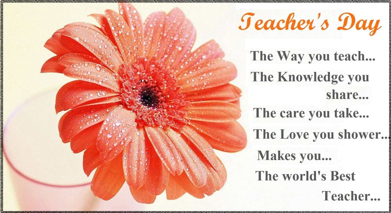 Best Happy Teacher's Day 2016 Gift Cards in English