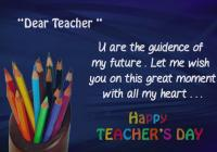 Happy Teacher's Day Advance Wishes Greeting Card Image Picture Photo