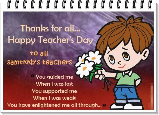 Teacher's Day 2016 Special Greetings Cards & Ecards for WhatsApp in English