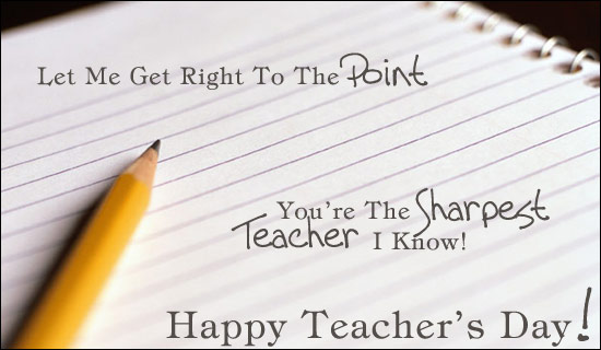 Happy Teacher's Day 2016 Pictures & Images in English with Best Wishes