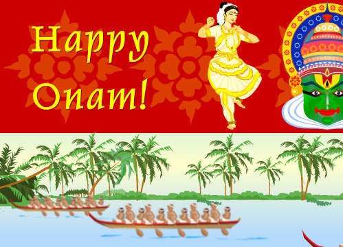 happy onam wishes greeting cards, images  pictures in english, Greeting card