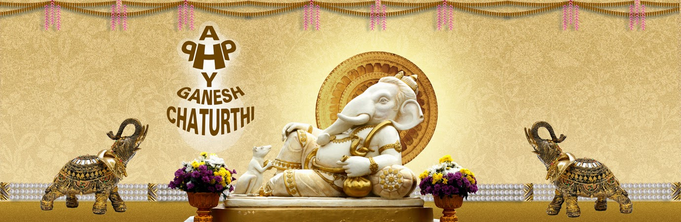 Happy Ganesh/ Vinayaka Chaturthi HD Wallpaper, Banners & Cover Photos For FB & Google+