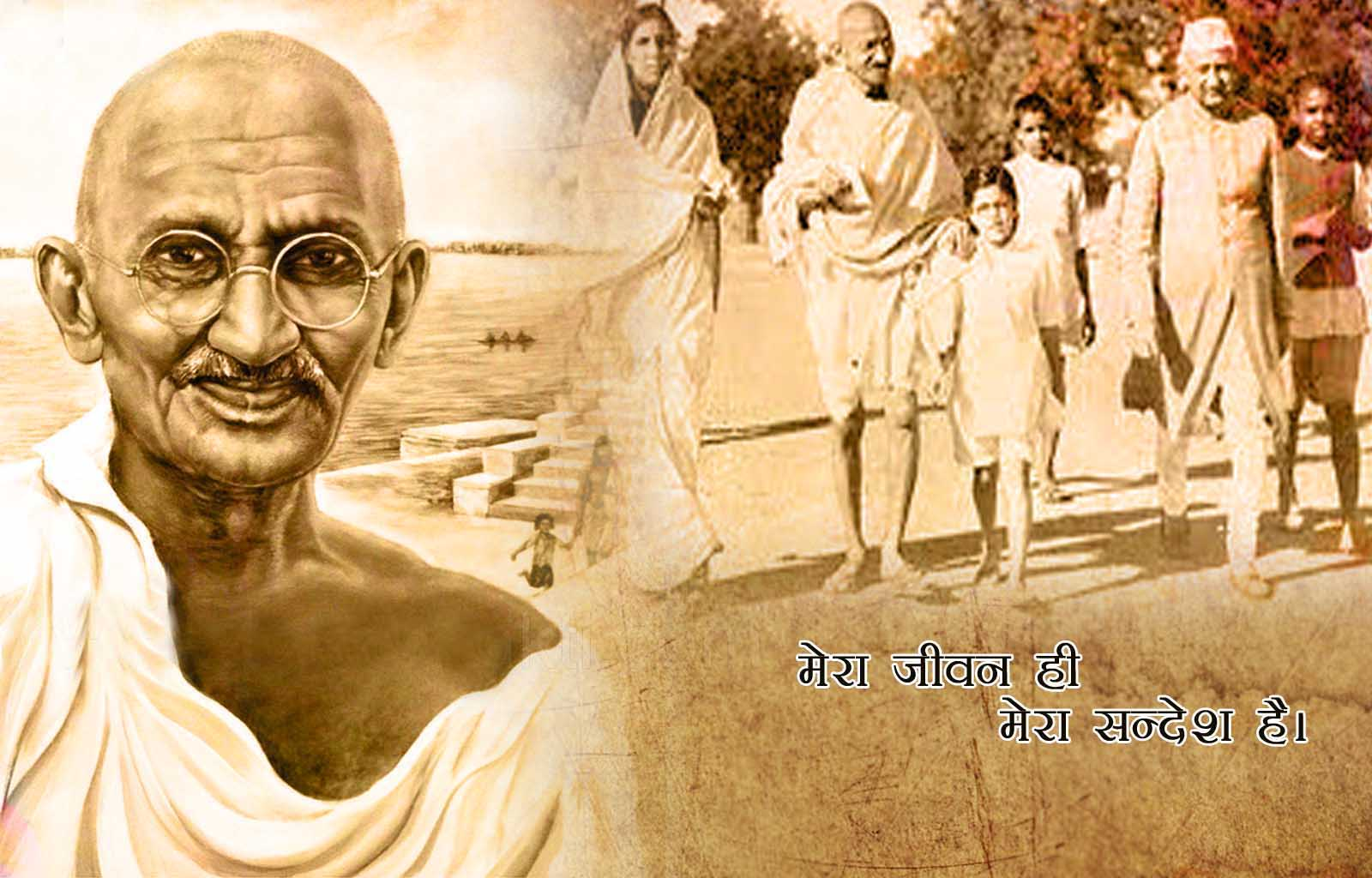 Download Mahatma Gandhi Jayanti Wishes HD Wallpapers
