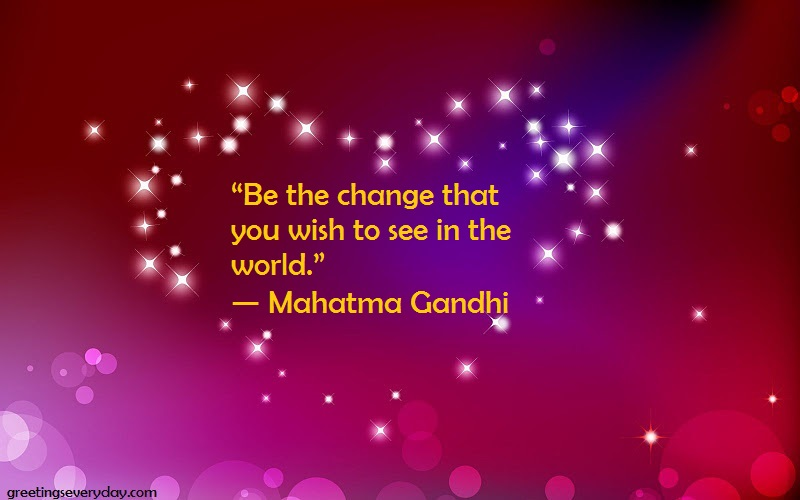 Mahatma Gandhi Jayanti 2017 Quotes, Sayings & Slogans in ...