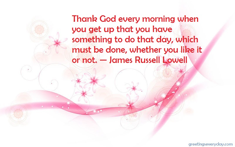Good Morning Wishes Quotes, Sayings & Slogans in English
