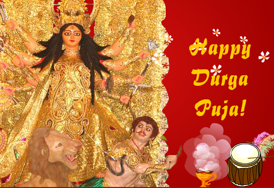 Happy Durga Puja Wishes Greeting Cards, Ecards, Images & Pictures