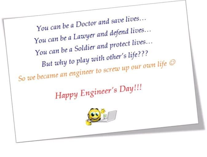 Happy Engineer Day Wishes Greeting Cards & Ecards