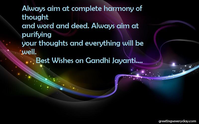 Happy Gandhi Jayanti Wishes WhatsApp& Facebook Messages & SMS in English