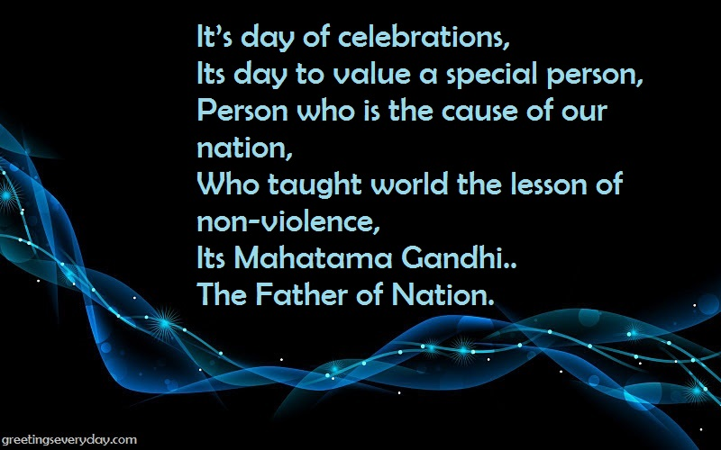 Happy Gandhi Jayanti Wishes WhatsApp& Facebook Status in English