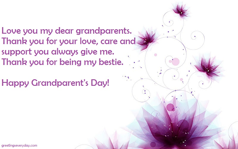 Happy Grandparent's Day Wishes Facebook & WhatsApp Message & SMS