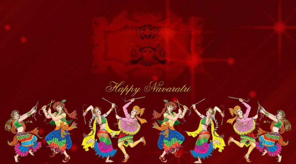Happy Navratri Wishes Funny Cartoon Animated Greetings Videos For WhatsApp