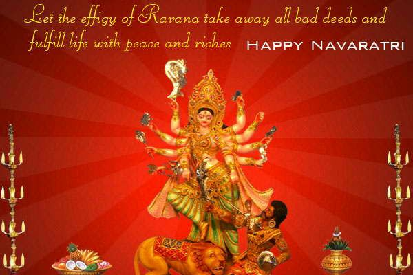 Happy Navratri Advance Wishes Greeting Cards, Ecards, Images & Pictures in English