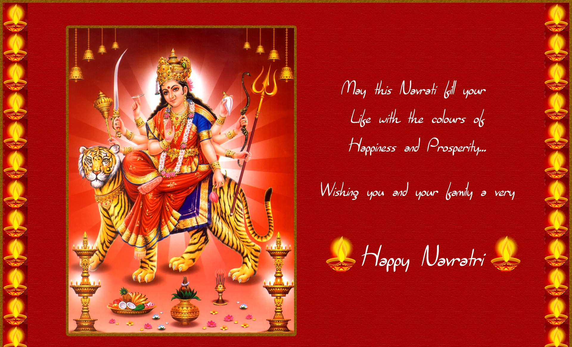 Happy Navratri Wishes Greeting Cards & Ecards in English For WhatsApp & Facebook