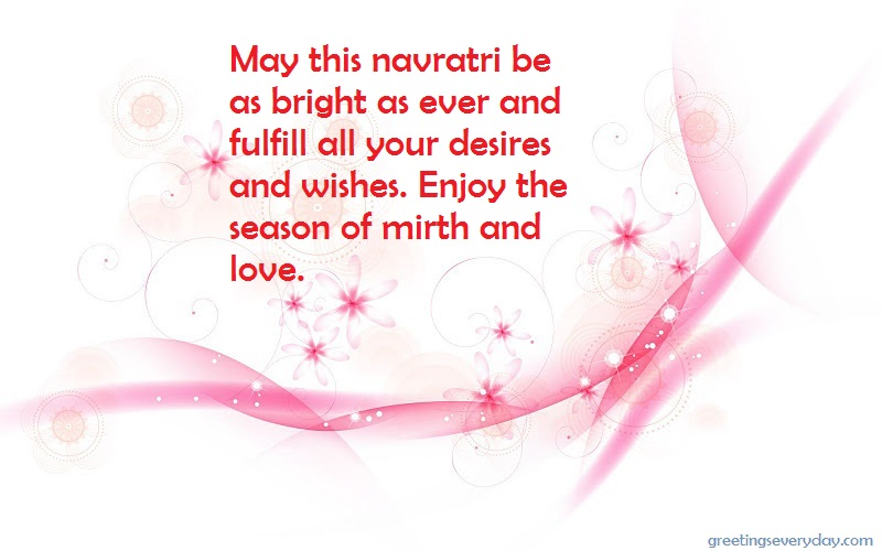 Happy Navratri Wishes Quotes, Sayings & Slogans with Best Wishes